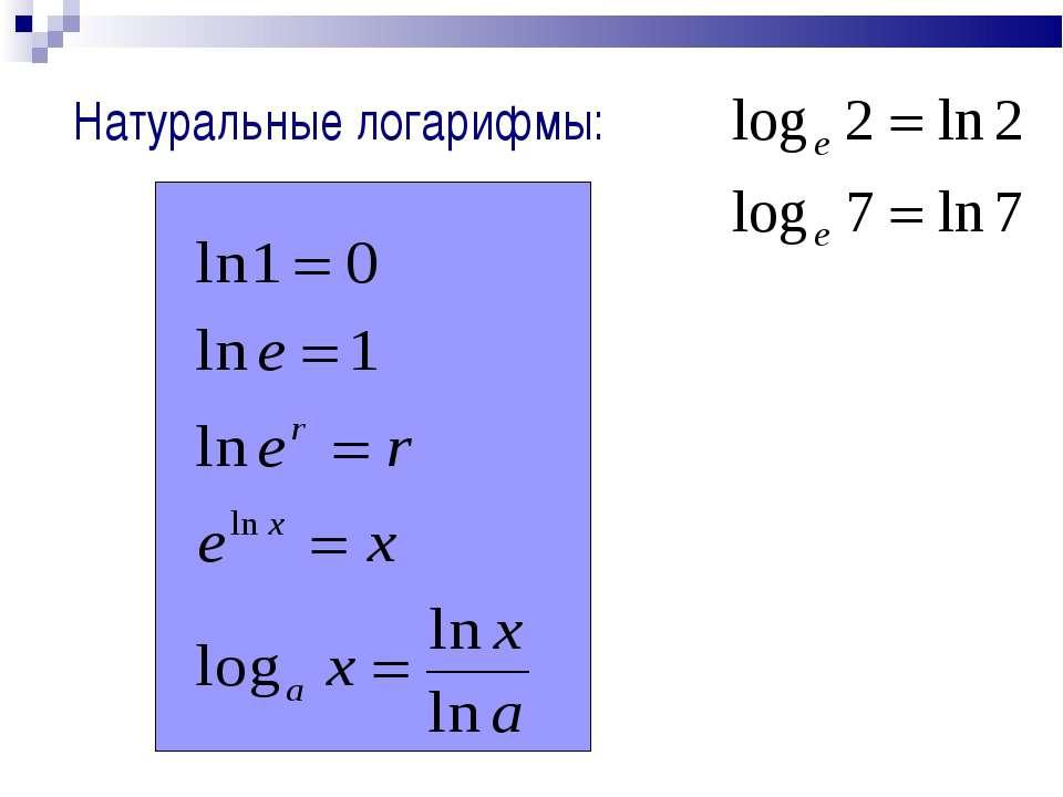 Натуральный логарифм — википедия с видео // wiki 2