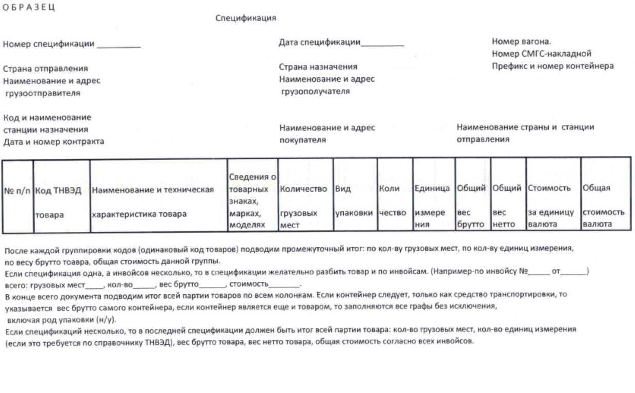 Особенности заполнения спецификации к договору поставки