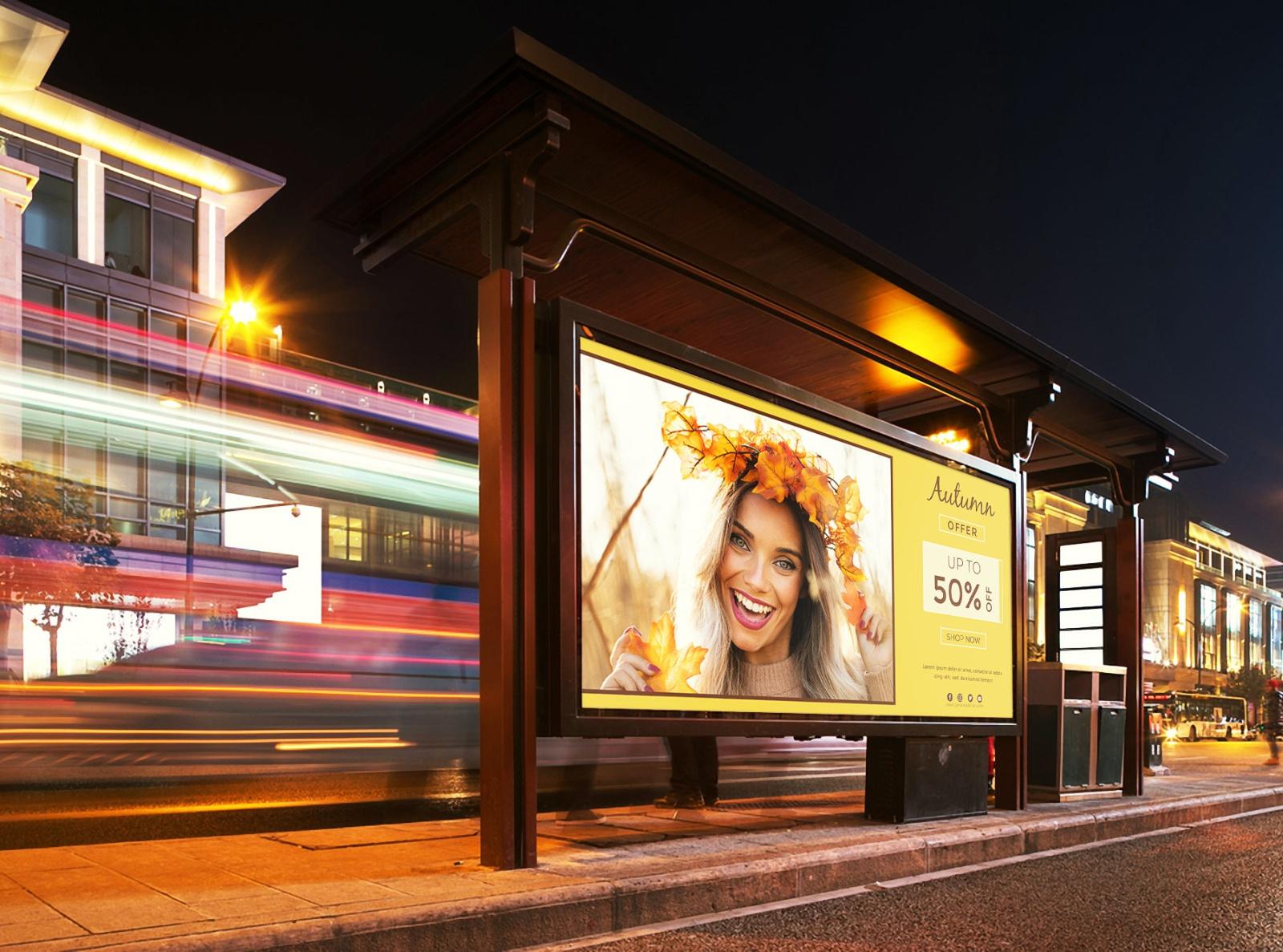 Современный рекламный  билборд   (billboard)