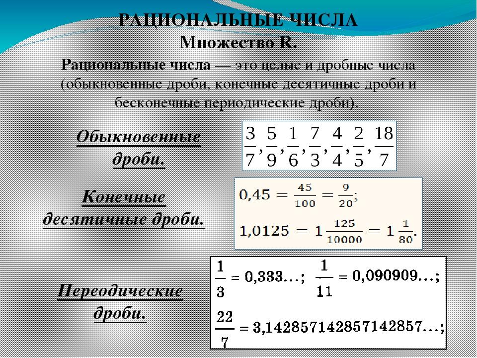 Рациональное число — википедия. что такое рациональное число