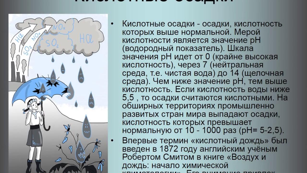 Кислотные дожди:причины и последствия