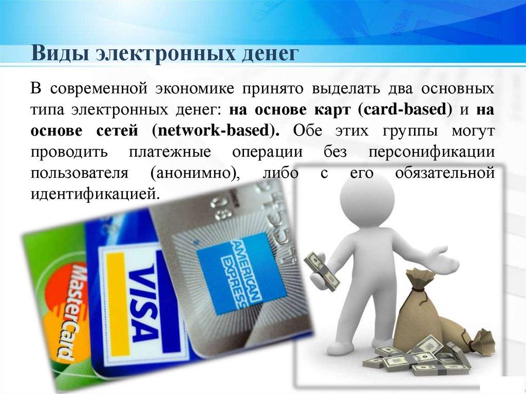 Электронные деньги: виды в россии