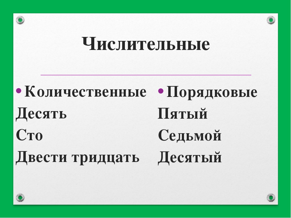 Имя числительное. числительные в русском языке: порядковые и количественные