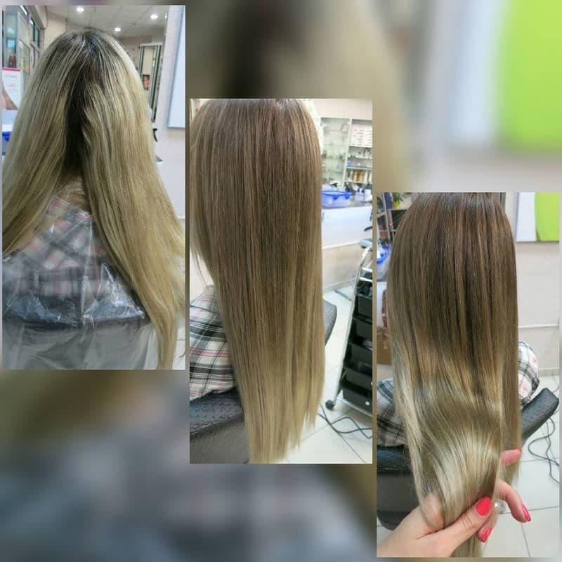 Тонирование волос фото - до и после: оттенки тонирования темных волос в интернет магазине kosmetika-proff.ru