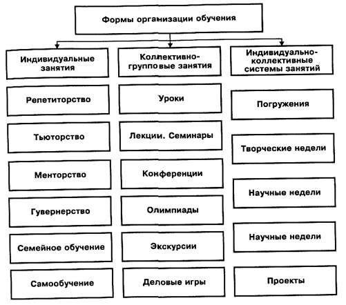 Глава 10. формы организации и средства обучения.