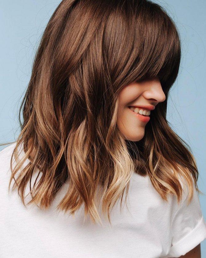 Омбре на средние волосы: особенности и техника выполнения
