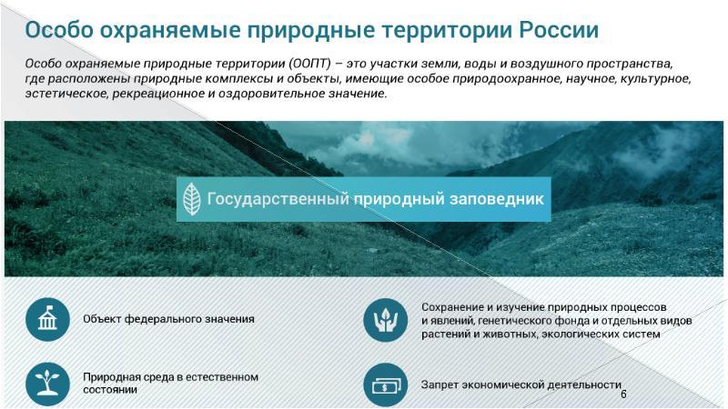 Особо охраняемые природные территории россии — википедия