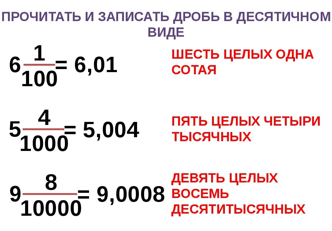 Десятичные дроби и действия с ними. деление и умножение десятичных дробей