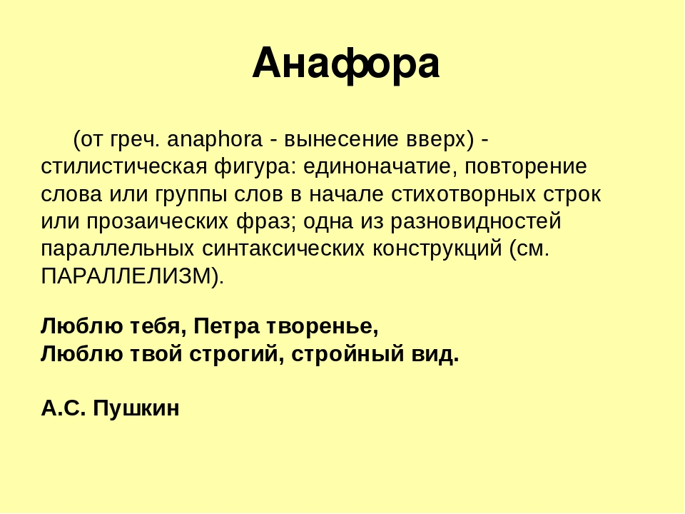 Что такое анафора