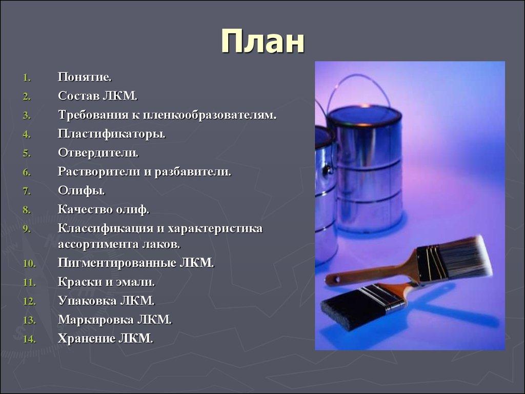 Лакокрасочные материалы (лкм)