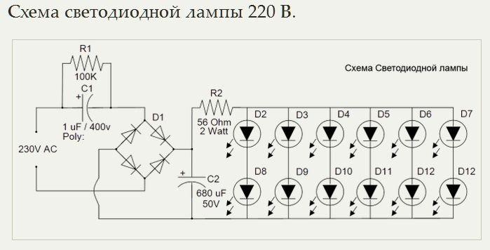 Устройство светодиода. принцип работы и производство