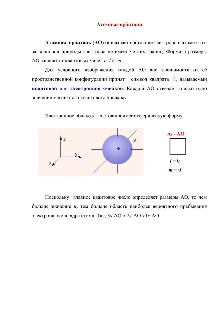Орбиталь - химия