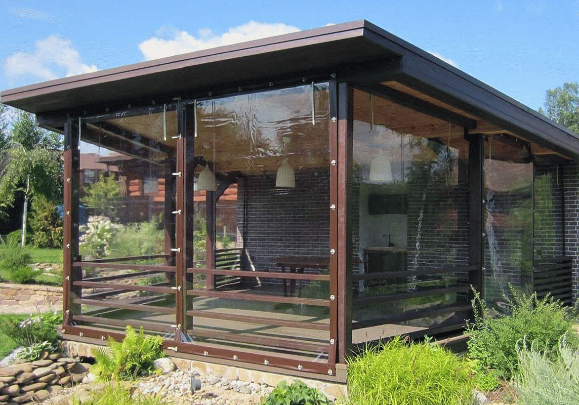 Мягкие окна: фото, видео, мягкое стекло для беседок, террас, и других конструкций