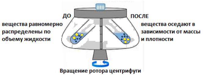 Принцип работы центрифуги