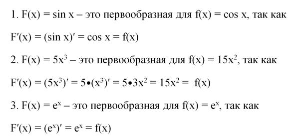 Основные методы интегрирования функций с примерами