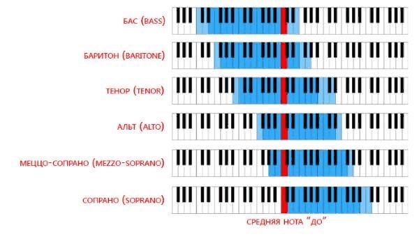 Типы голосов - как определить тембр голоса