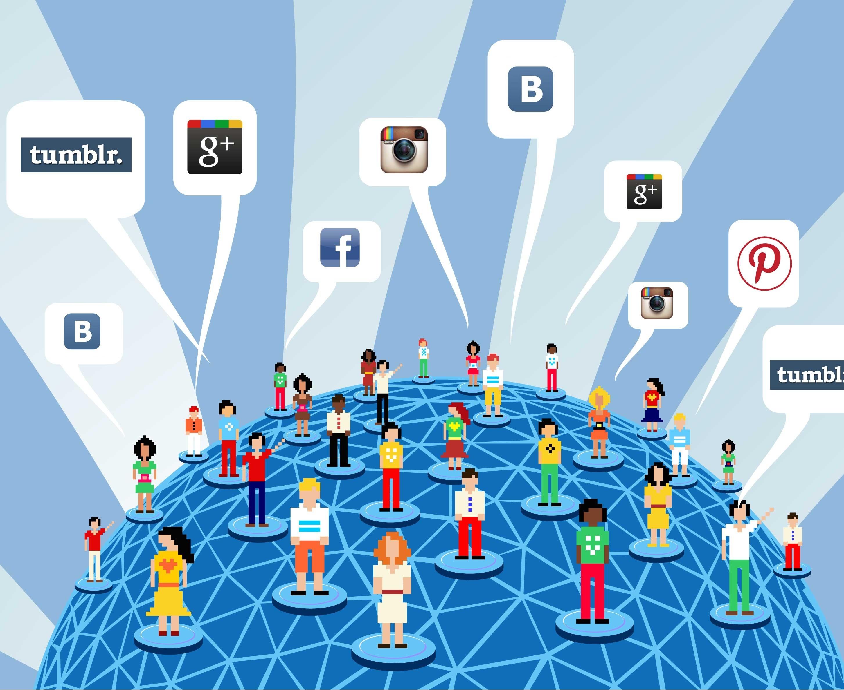 Список 250 самые популярные и новые социальные сети 2019