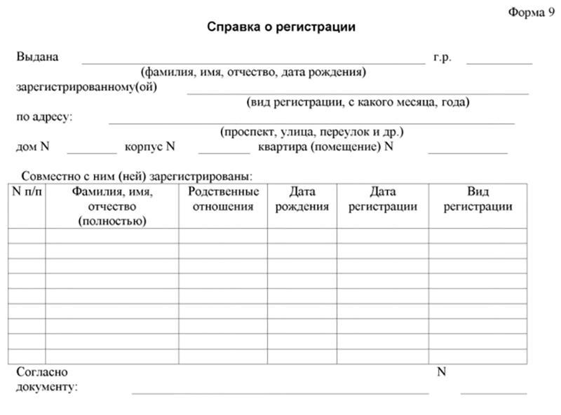 Форма 8 о прописке ребенка: образец бланка, где получить справку?