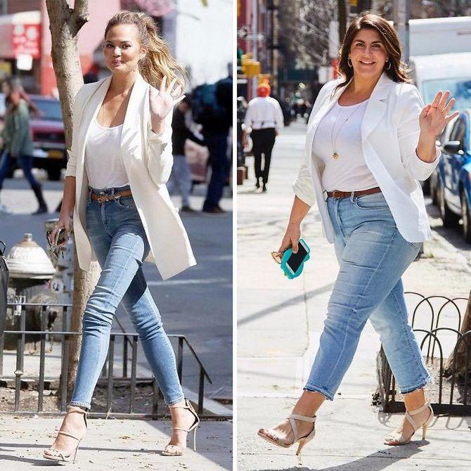 С чем носить джинсы скинни: модные советы, фото