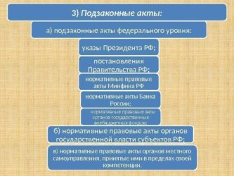 Что такое подзаконный акт какова иерархия подзаконных актов рф