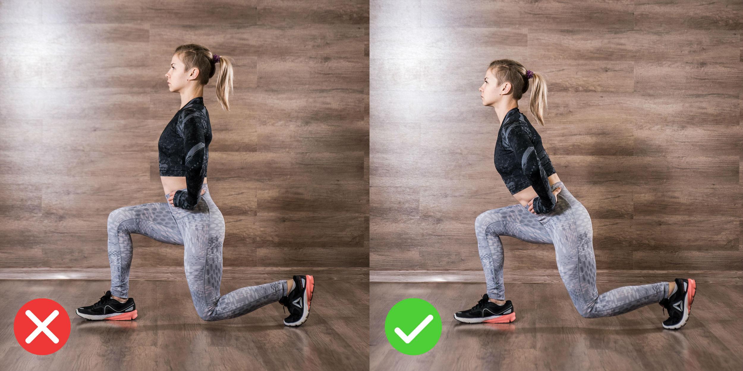 Выпады - техника выполнения (20+ вариантов выполнения упражнения): выпады с гантелями, выпады назад и вперед, выпады со штангой