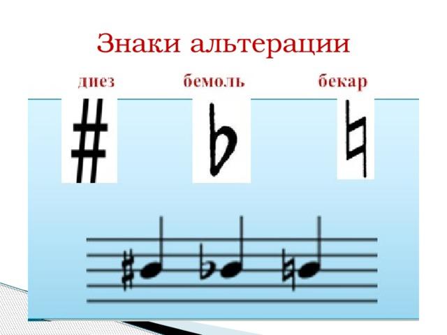 Диез, бемоль и бекар – знаки альтерации в музыке
