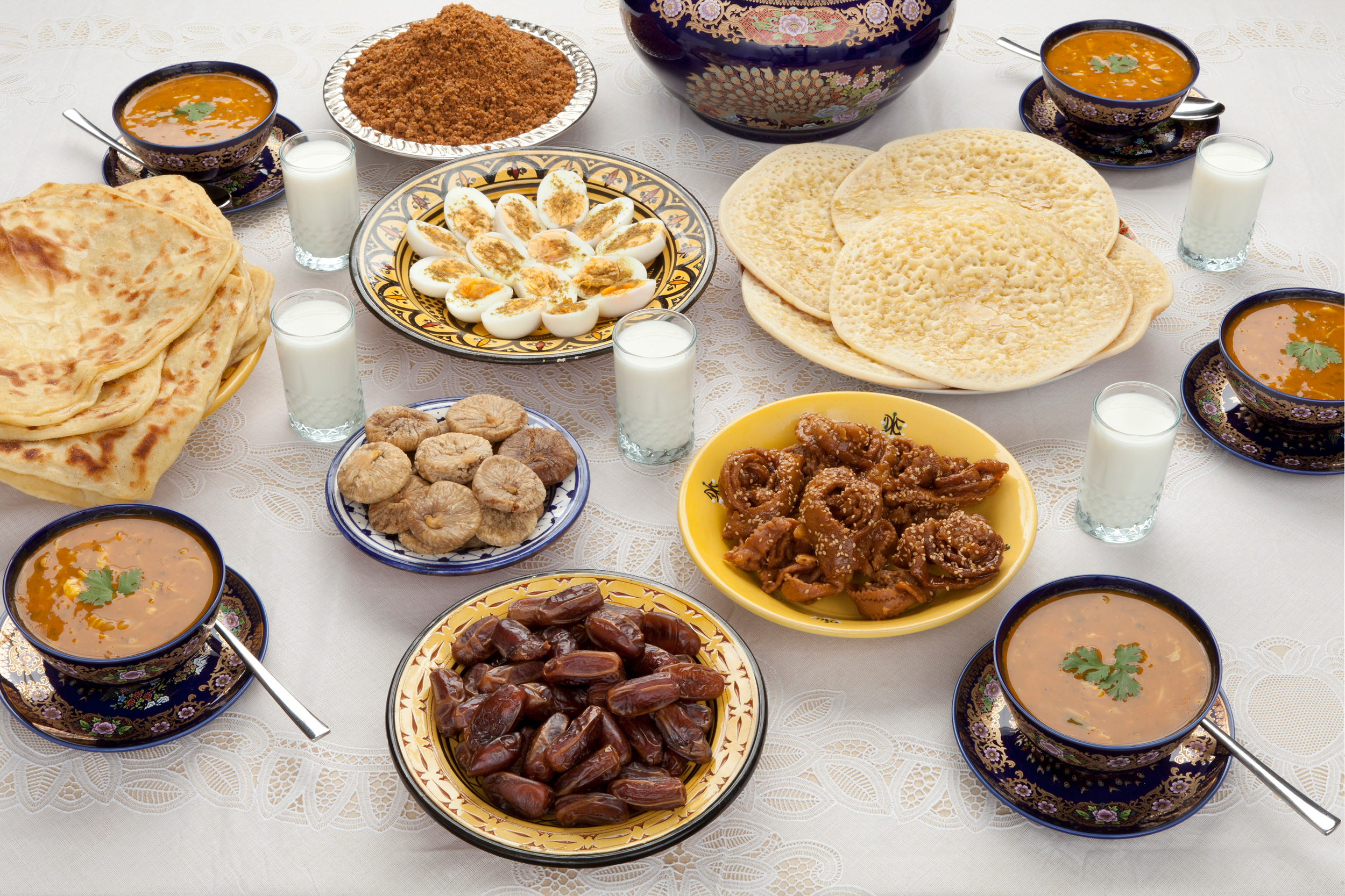 Дуа после еды и перед едой. тексты