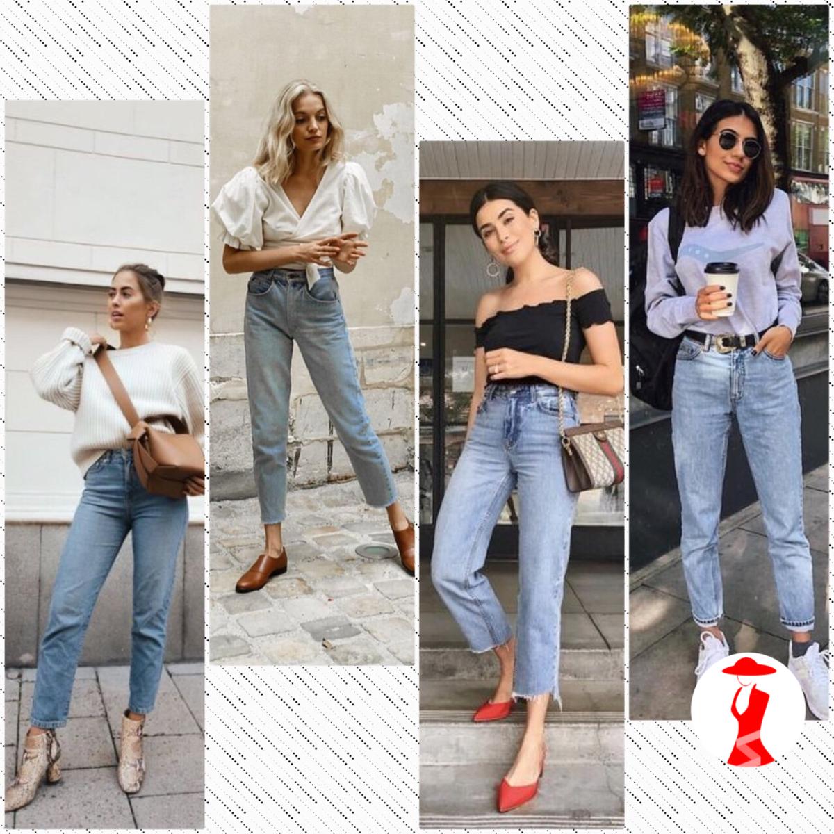С чем носить джинсы mom (mom jeans)