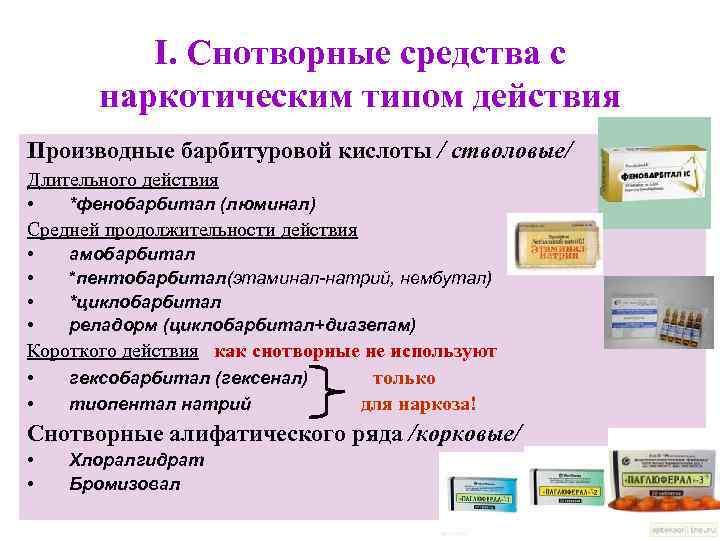 Барбитураты - зависимость от препарата наравне с наркотиками