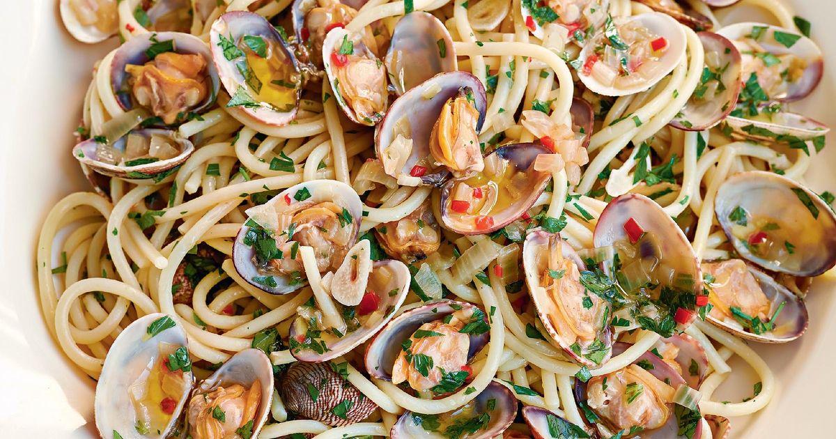 Спагетти вонголе