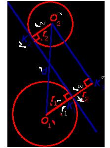 Касательная прямая к окружности — википедия