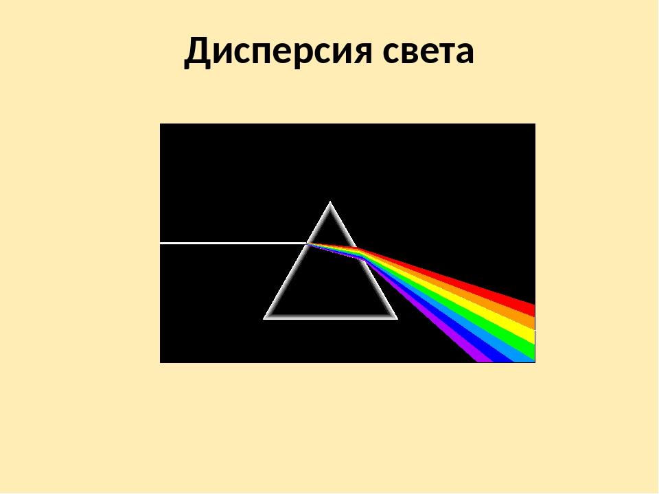 Дисперсия света – пример, электронная теория кратко