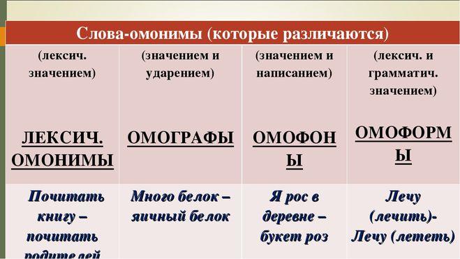 Что такое омонимы: виды, словарь омонимов русского языка, примеры предложений с омонимами для детей, определение функциональных и лексических омонимов   tvercult.ru
