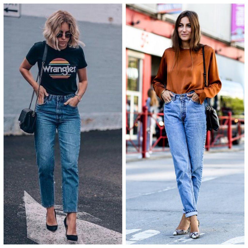 Одеваем стильные джинсы мом для создания модного образа