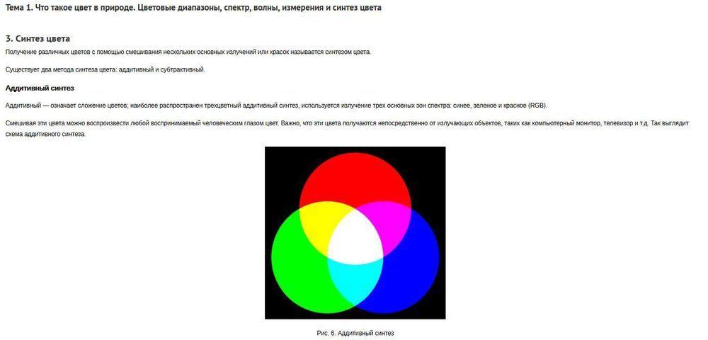 Словарь теории цвета