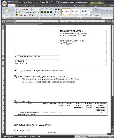 Как написать служебную записку - пример и образец написания.