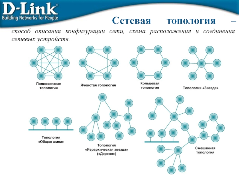 Понятие топологии сети. базовые топологии