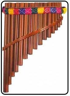 Духовой деревянный инструмент флейта пана