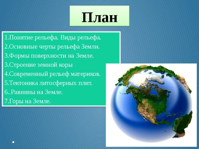 Рельеф земной поверхности или топографический рельеф