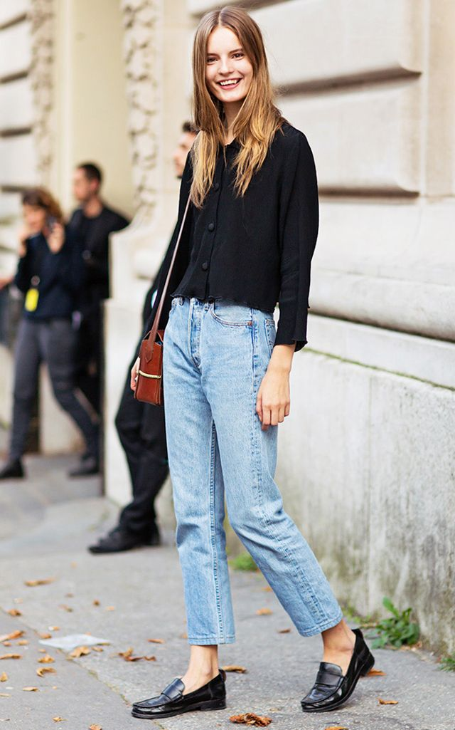 С чем носить джинсы mom (mom jeans)   ух ты!