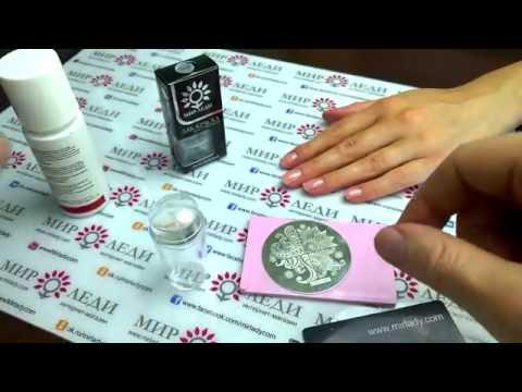 Стемпинг на ногтях - фото и видео как делать стемпинг
