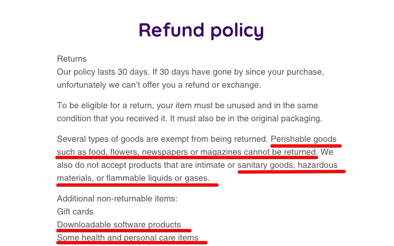 Refund policy | xsolla
