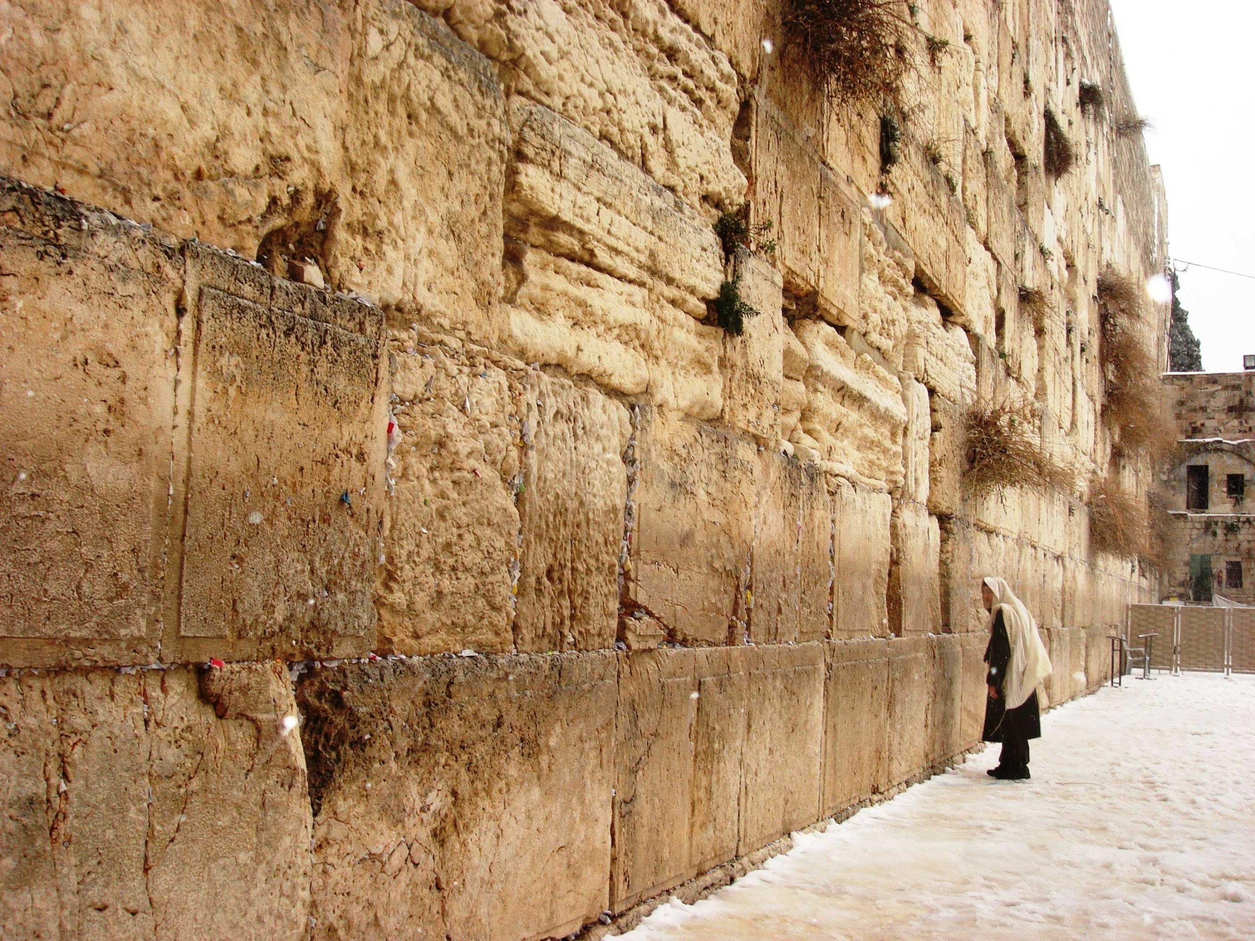 Стена плача — культовая достопримечательность израиля