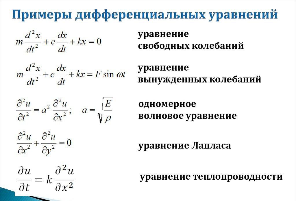 Обыкновенное дифференциальное уравнение — википедия. что такое обыкновенное дифференциальное уравнение