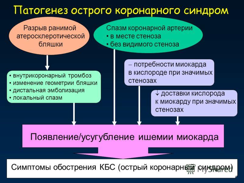 Острый коронарный синдром (окс): понятие, этиология и патогенез, симптоматика, диагноз, принципы лечения
