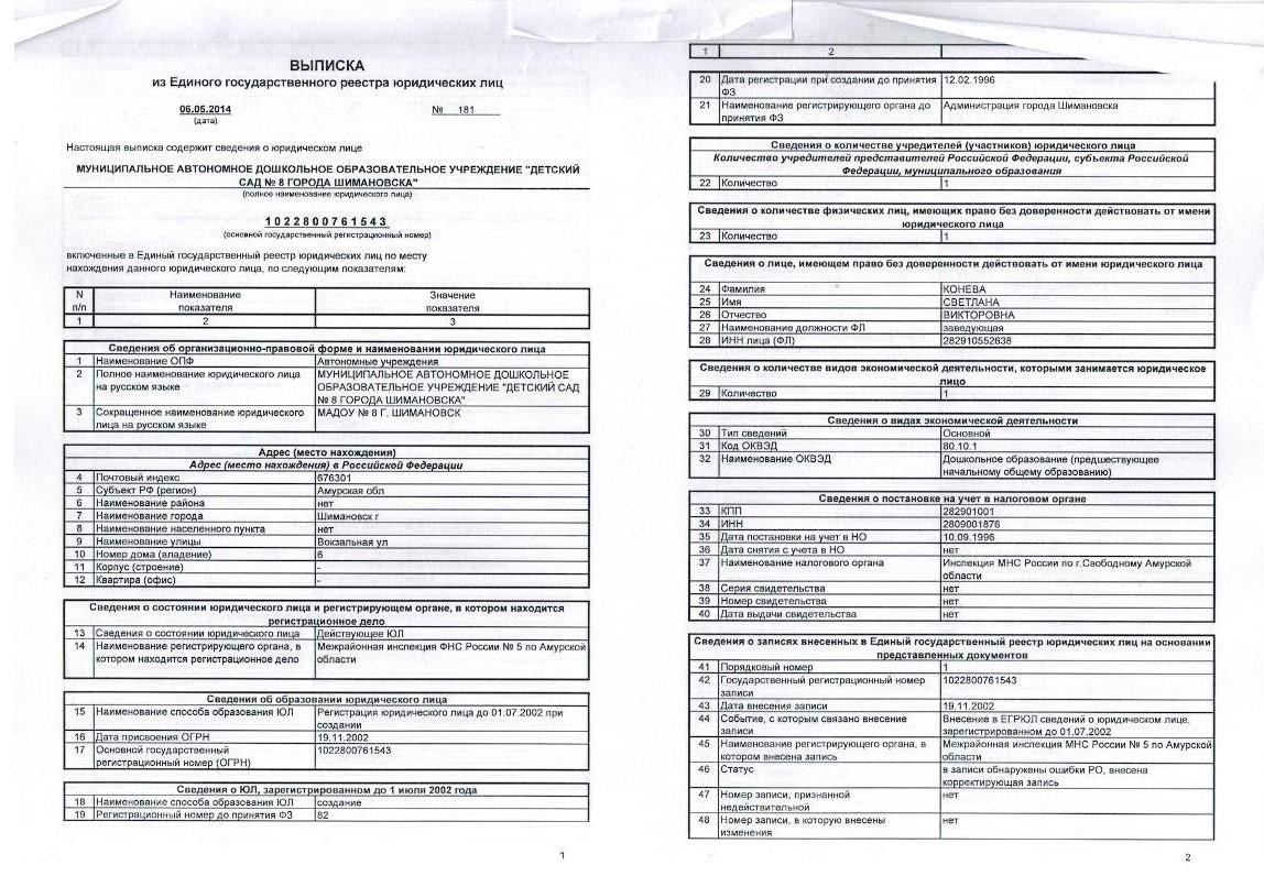 Единый государственный реестр юридических лиц