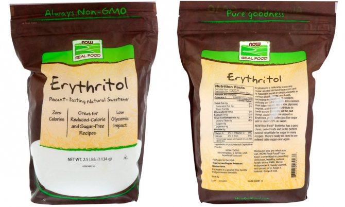 Подсластитель эритритол: польза и вред