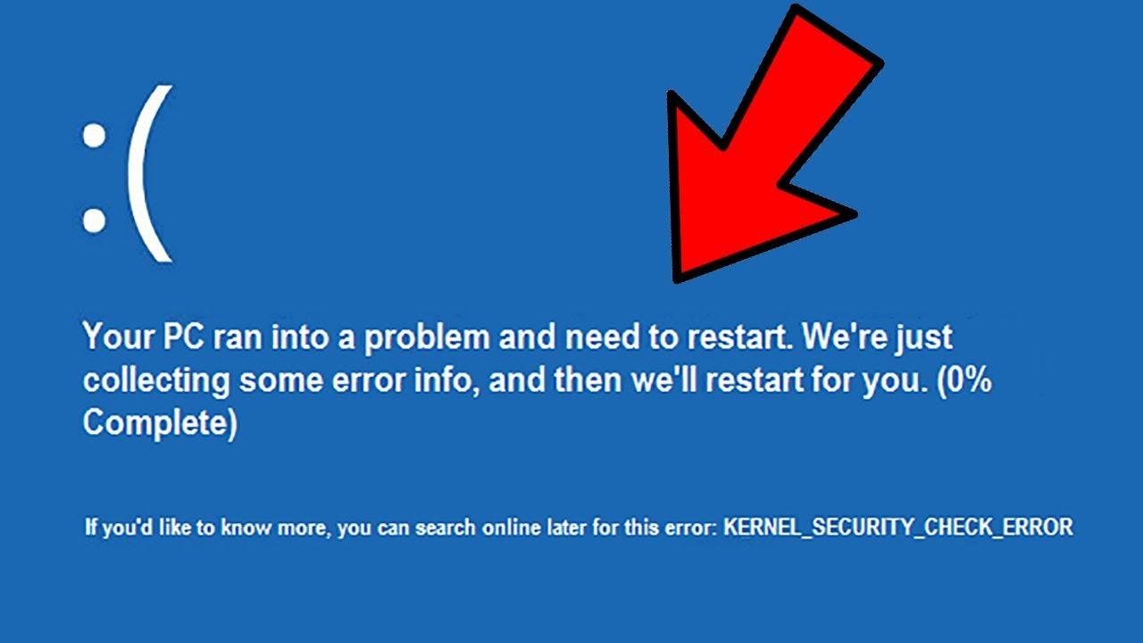Kernel security check failure в windows 10 - как исправить?