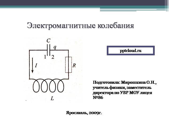 Тема: «электромагнитные колебания» | авторская платформа pandia.ru