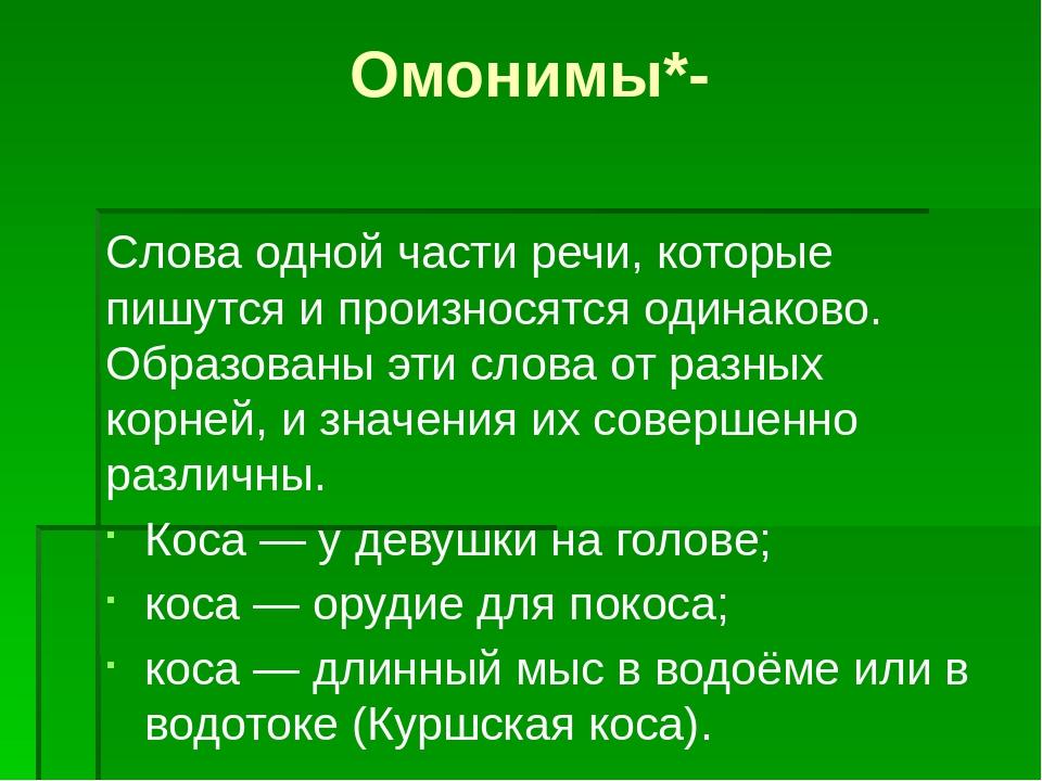 Омонимы